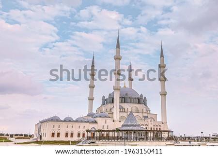Hala Sultan Camii. A mosque located in Nicosia (Lakosa) North Cyprus. Stok fotoğraf ©