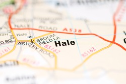 Hale on a geographical map of UK
