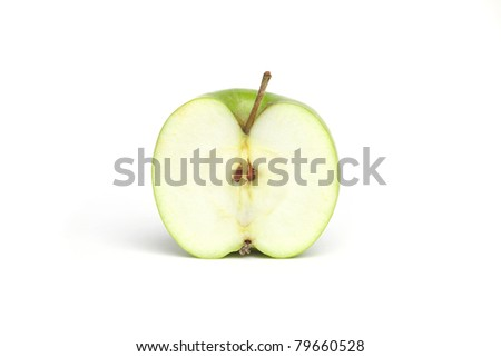 Half a Green Granny Smith Apple