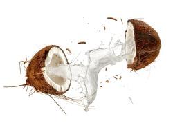 Half cut coconut splash