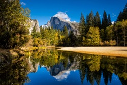 Half dome mountain in yosemite national park in california