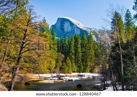 Half Dome Rock , the Landmark of Yosemite National Park,California
