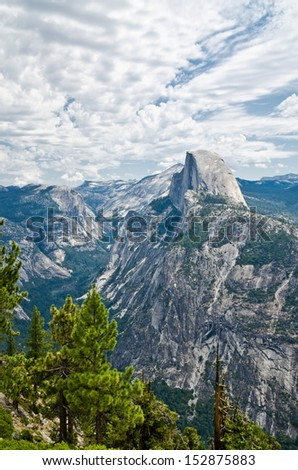Half Dome the most famous landmark in Yosemite National Park in California USA