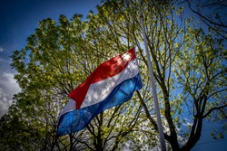 Half-flag during commemoration on May 4 in the Netherlands