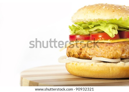 Half hamburger