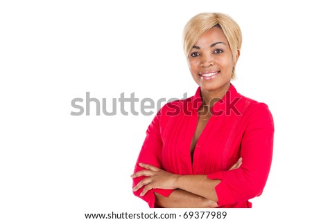half length portrait of a beautiful African woman - stock photo