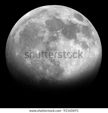 Half moon in the night background