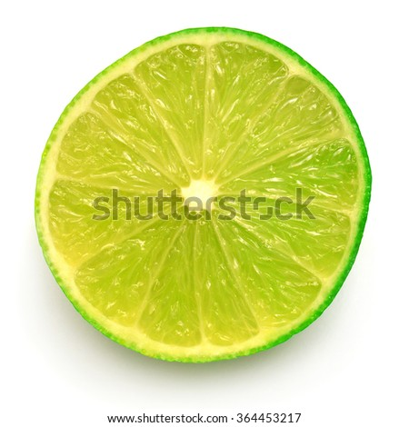 Half of lime isolated on white background #364453217
