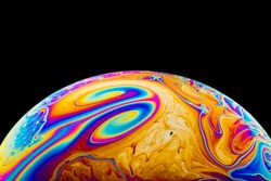 Half soap Bubble Ball abstract background semicircle