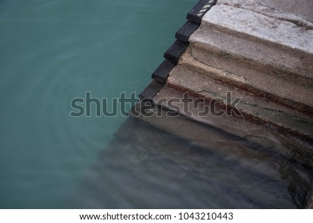 Half-submerged Staircase Taken at a dock #1043210443