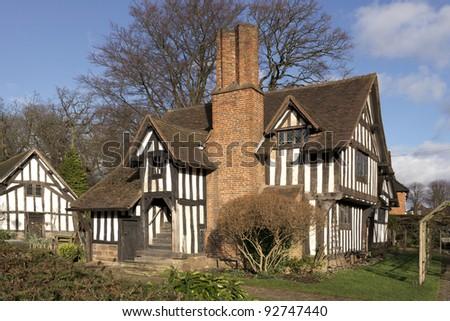 half timbered buildings selly hall bourneville birmingham midlands england uk
