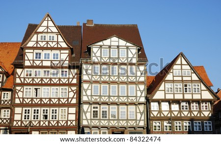 Half timbered houses in Hannoversch Münden (Germany)