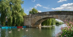 Halfpenny Bridge across the River Thames at Lechlade, Gloucestershire, England, United Kingdom