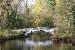 Halfpenny Bridge at Linn Park - Glasgow - Scotland