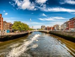 Halfpenny bridge in Dublin Ireland