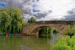 Halfpenny Bridge on the River Thames, Lechlade-on-Thames, Gloucestershire, England, United Kingdom