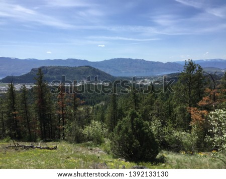 Halfway up McDougall Trail overlooking Mt. Boucherie, in Kelowna, British Columbia, Canada