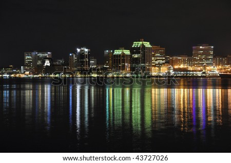 Halifax Nova Scotia at night. Taken from across the harbor in Dartmouth December 09