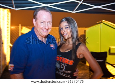 HALIFAX, NS - AUGUST 21: NASCAR veteran driver Ken Schrader meets fans in the weekly series at Scotia Speedworld, August 21, 2009 in Halifax.