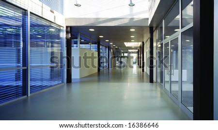Hall in a modern office building