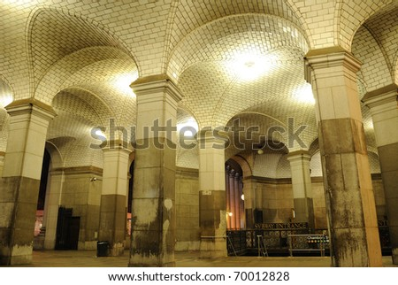 Hall in a New York CIty Subway entrance.