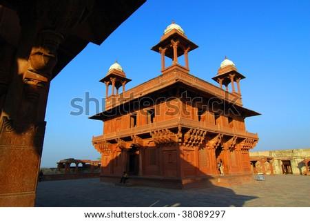 Hall of Private Audience, Fatehpur Sikri, Agra, Uttar Pradesh, India - stock photo
