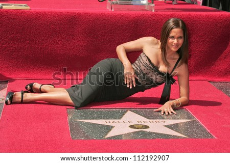 Halle Berry at the ceremony honoring her with the 2,333rd star on the Hollywood Walk of Fame. Hollywood Boulevard, Hollywood, CA. 04-03-07 - stock photo