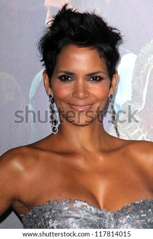 "Halle Berry at the ""Cloud Atlas"" Los Angeles Premiere, Chinese Theatre, Hollywood, CA 10-24-12 - stock photo"
