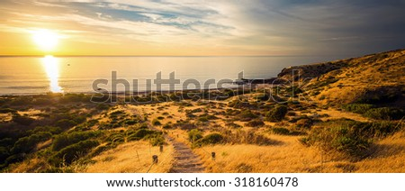 Hallet Cove view at sunset. South Australia #318160478