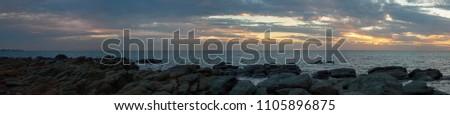 Hallett Cove Beach Sunset Panorama #1105896875