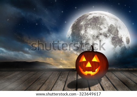 Halloween background. Elements of this image furnished by NASA. #323649617