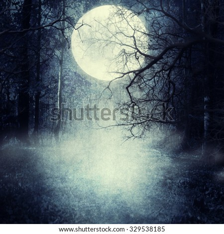 Halloween background with moon.