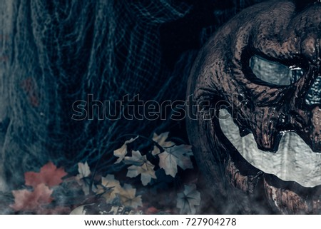halloween background with scary ...