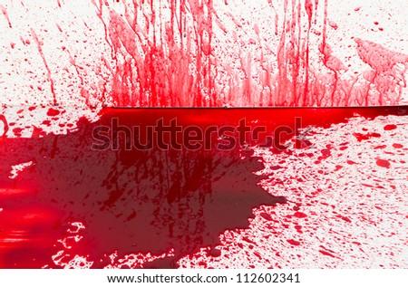 Halloween concept : Blood splatter