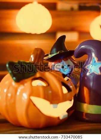 Halloween Day, Pumpkin doll, light #733470085
