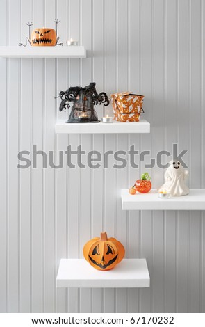 Halloween Decorations on Display