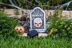 Halloween decorative yard cemetery headstone rip