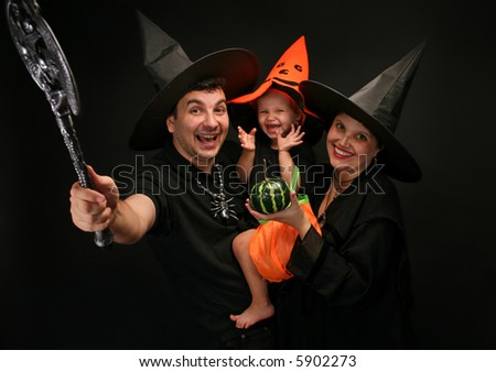 Halloween - family in costumes