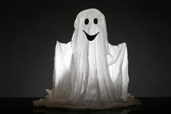 Halloween ghost, isolated on  black