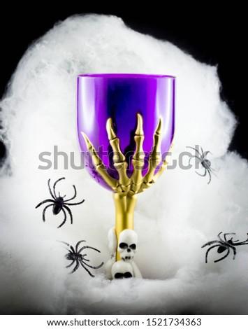 Halloween goblet - steam glass with skulls #1521734363