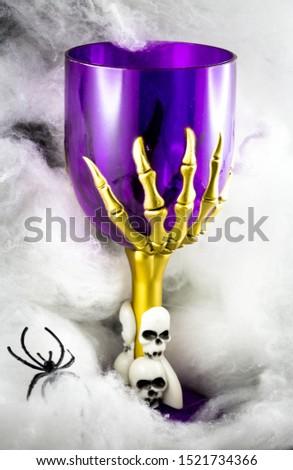 Halloween goblet - steam glass with skulls #1521734366