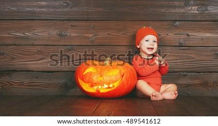 halloween. happy funny baby ...
