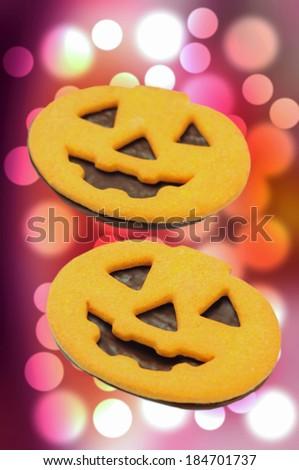 Halloween homemade gingerbread cookie #184701737