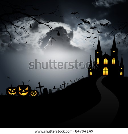 Halloween house - stock photo
