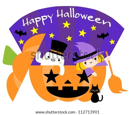 Halloween illustration - stock photo