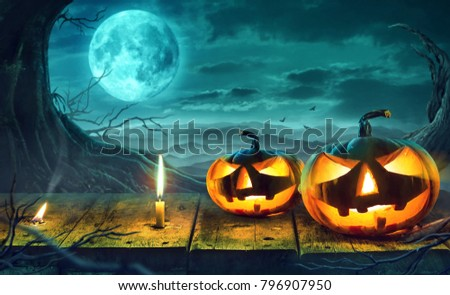 Halloween Night Concept  #796907950