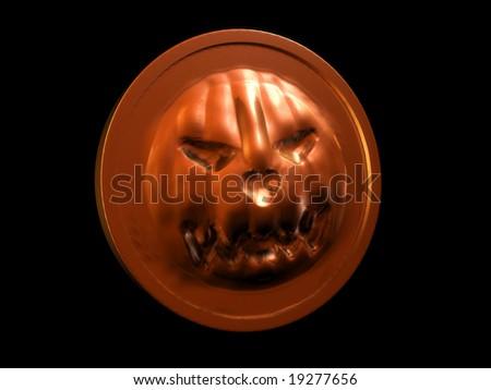 Halloween pumpkin coin