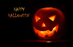 Halloween pumpkin, creepy holiday background
