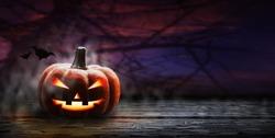 Halloween pumpkin design with copy space