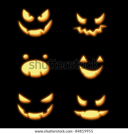 Halloween pumpkin grins